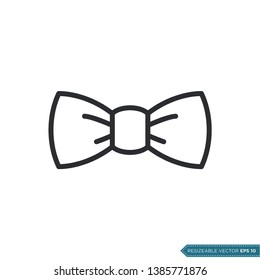 Bow Tie Icon Vector Template Flat Design