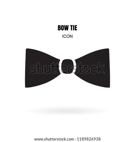 Bow Tie Neck Tie Simple Vector Stock Vector Royalty Free