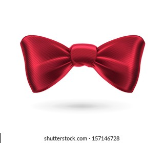 Bow tie, red vector