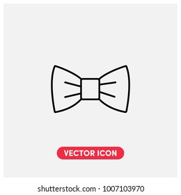 Bow Tie Vector Icon Illustration.Light Background.Premium Quality.