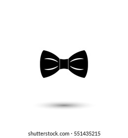 Bow tie vector icon with round  shadow