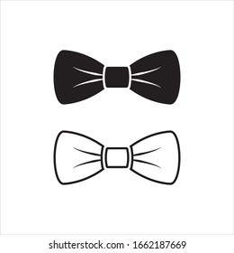 Bow Tie Vector Icon Symbol