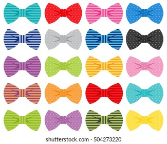 Bow Ties Vector Illustration Set