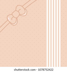 Bowknot Cover Design, Wheat Color
