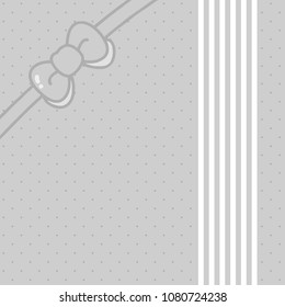 Bowknot Cover, Grey