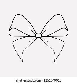 Bowknot icon line element. Vector illustration of bowknot icon line isolated on clean background for your web mobile app logo design.