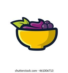A bowl of acai illustration vector