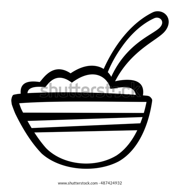 Bowl Cereal Vector Icon Stock Vector (Royalty Free) 487424932