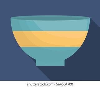 bowl dishware icon image vector illustration design