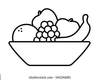 bowl clipart images stock photos vectors shutterstock https www shutterstock com image vector bowl fruit fruits orange banana grapes 545296081