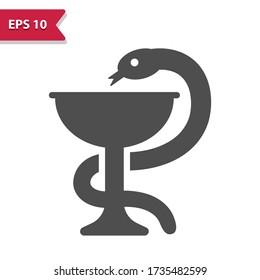 Bowl of Hygieia Icon. Professional, pixel perfect icon, EPS 10 format.