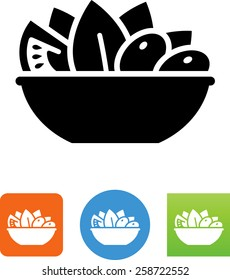Bowl of salad icon