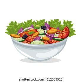 bowl salad vegetables harvest