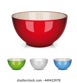 Bowl vector set