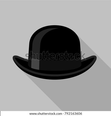 Bowler hat icon Flat