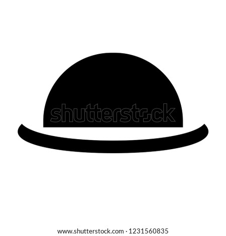 37f73641f1cd2 Bowler Hat Icon Silhouette Vector Illustration Stock Vector (Royalty ...