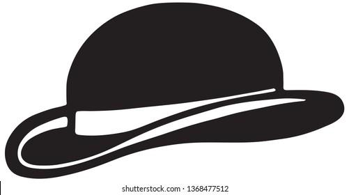 Bowler Hat - Retro Ad Art Banner