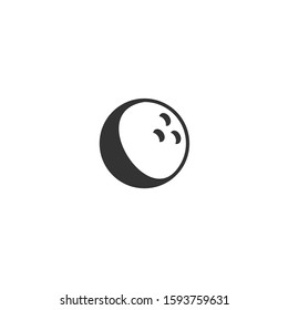 Bowling ball icon template color editable. Bowling ball symbol vector sign isolated on white background illustration for graphic and web design.