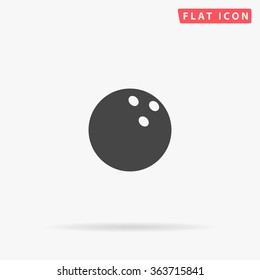 Bowling ball Icon Vector.