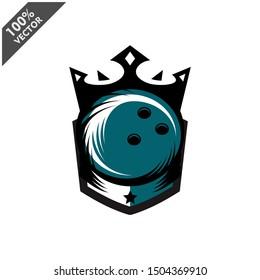 Bowling Ball King Logo Vector