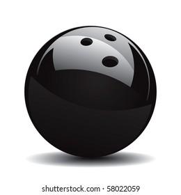 Bowling Ball Set 1 Vector Drawing