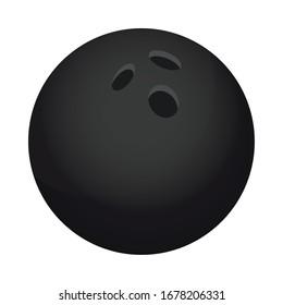 bowling ball sport equipment icon vector illustration design