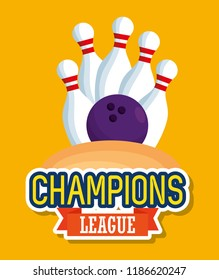 bowling champions league icons