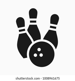 bowling game round ball black color icon