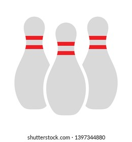 Bowling game sign icon. Ball with pin skittle symbol. Abstract shape. bowling icon. Vector competition