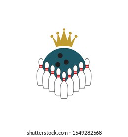 Bowling icon design template vector isolated illustration