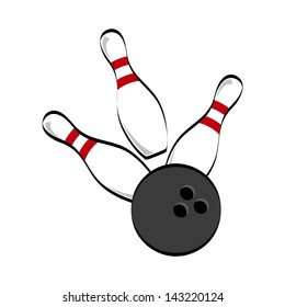 bowling icon over white background vector illustration