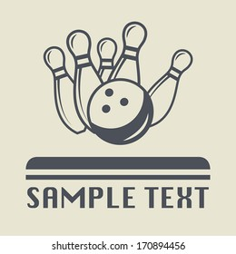 Bowling icon or sign, vector illustration