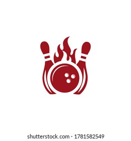 Bowling icon Template vector illustration design