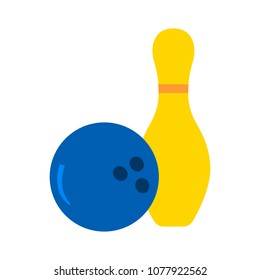 Bowling icon. vector bowling ball - bowling game, sport icon
