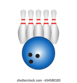 bowling isolated vector
