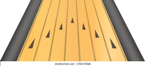 bowling lane isolated vector illustration.