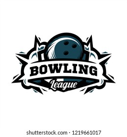 Bowling League Logo 01