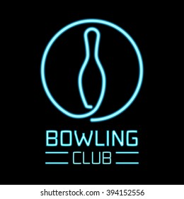 Bowling logo, symbol, emblem, design element vector