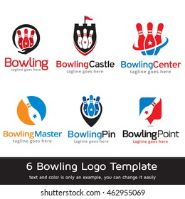 Bowling Logo Template Design Vector