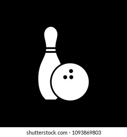 Silhouette Bowling Pins Bowling Ball Stock Vector Royalty Free