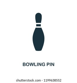 Bowling Pin icon. Monochrome style design from bowling collection. UX and UI. Pixel perfect bowling pin icon. For web design, apps, software, printing usage.