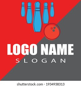 Bowling pin Logo Template vector icon illustration design