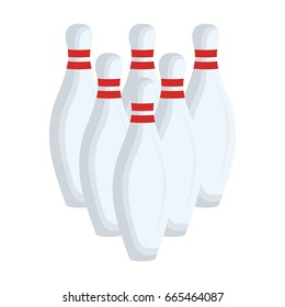 bowling pines isolated icon