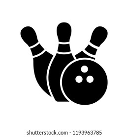 Bowling Pins Ball Icon Vector Icon Stock Vector Royalty Free