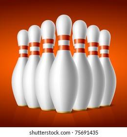 Bowling pins. Vector.
