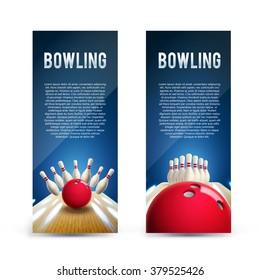 bowling realistic theme eps 10  broshure