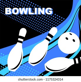 Bowling. Skittles and a ball.