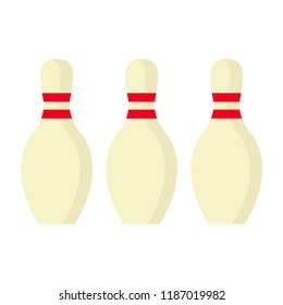 Bowling skittles. Skittles, isolated on white background. Vector illustration. EPS 10.