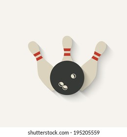 bowling sport icon - vector illustration. eps 10