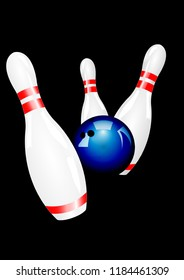 bowling strike shot